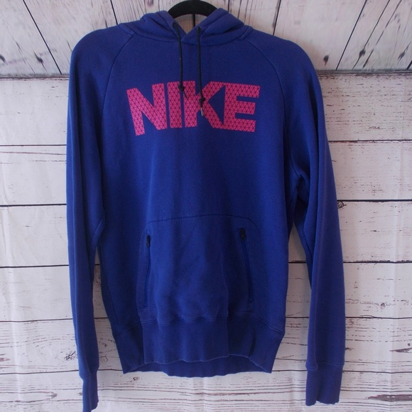Nike athletic depot blue pink hoodie small